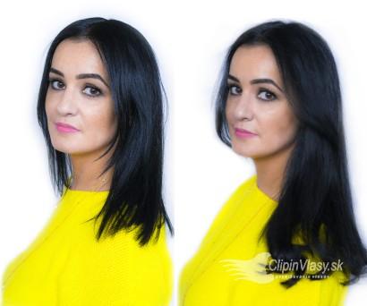 Premena s clip-in vlasmi