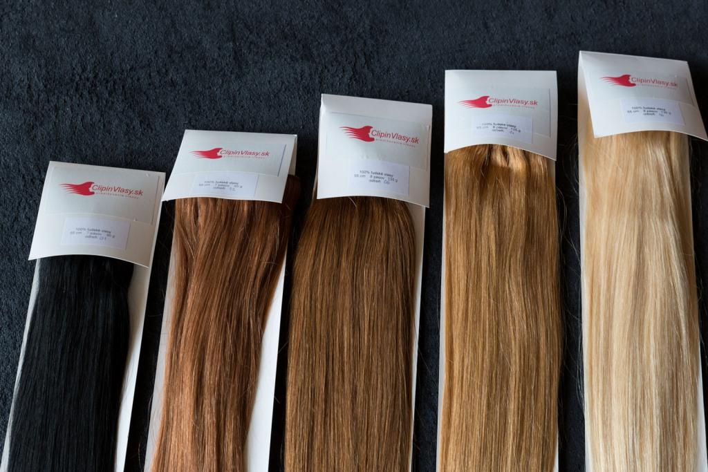 Deluxe 100% ľudské clip-in vlasy čierne - ClipinVlasy.sk dcb265f61a6