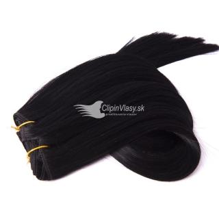 Čierne živé vlasy clip in